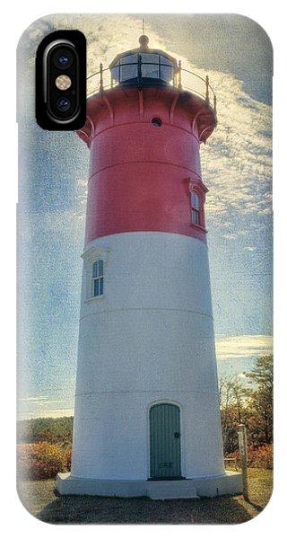 Navigation iPhone Case - Nauset Lighthouse by Joan Carroll