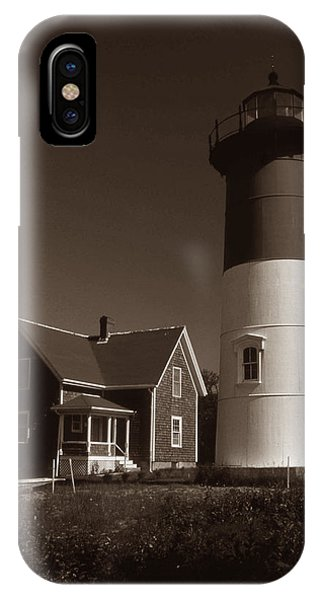 Lighthouse Wall Decor iPhone Case - Nauset Lighthouse by Skip Willits