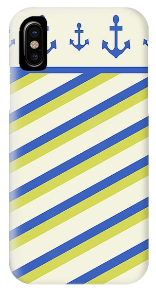 Simple iPhone Case - Nautical Pattern by Christina Rollo