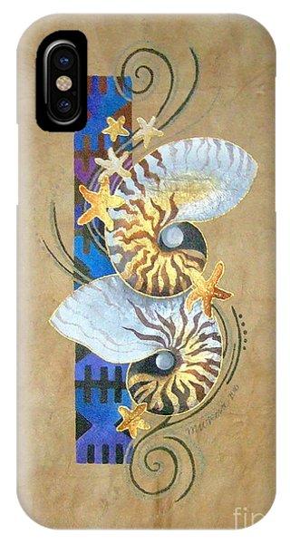 Nautilus And Blue Masi IPhone Case