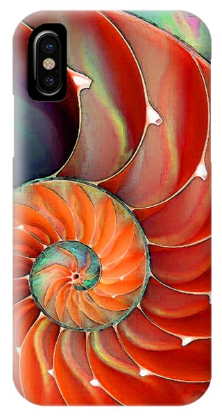 Bass iPhone Case - Nautilus Shell - Nature's Perfection by Sharon Cummings