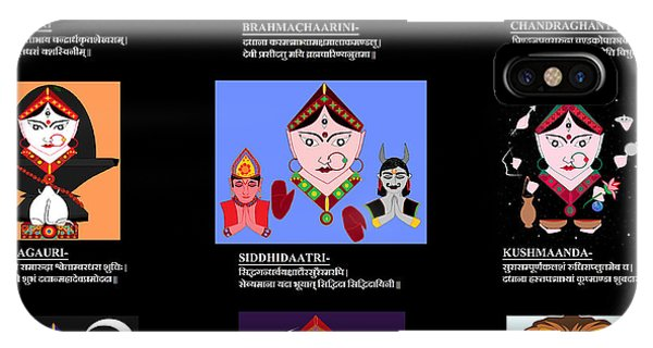 Navadurga With Dhyana Mantra IPhone Case