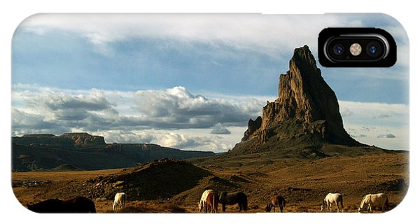 Navajo Horses At El Capitan IPhone Case