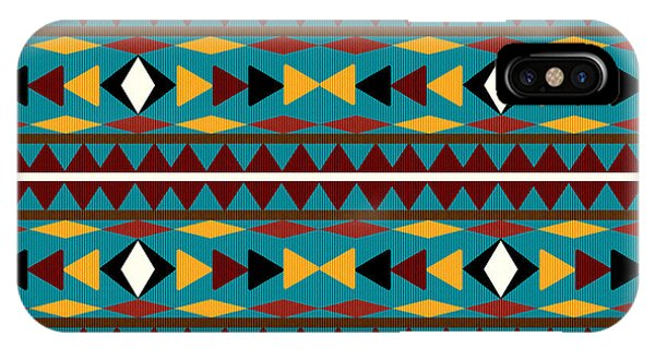 Teal iPhone Case - Navajo Teal Pattern by Christina Rollo