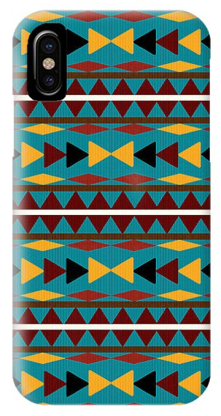 Navajo Teal Pattern IPhone Case