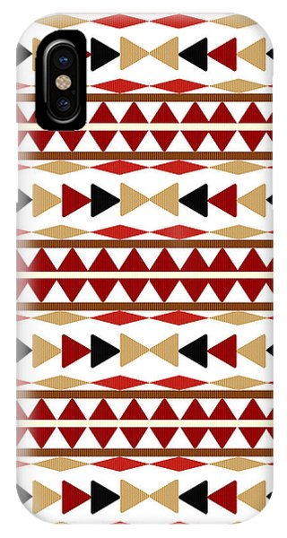 Repeat iPhone Case - Navajo White Pattern by Christina Rollo