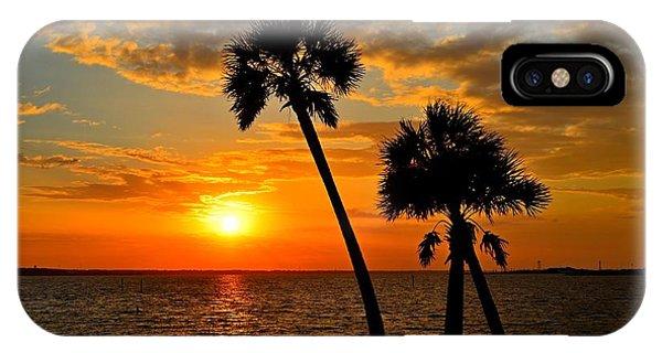 Navarre Beach Bridge Sunrise Palms IPhone Case