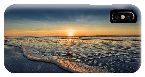 Orange Sunset iPhone Case - Navy Sunset by Lucid Mood