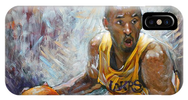 Basketball iPhone Case - Nba Lakers Kobe Black Mamba by Ylli Haruni