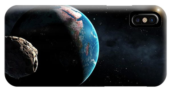 Earth Orbit iPhone Case - Near-earth Asteroid by Mark Garlick/science Photo Library