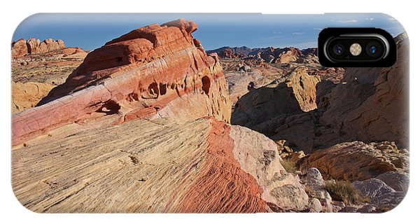 Near The Swoosh At The Valley Of Fire IPhone Case