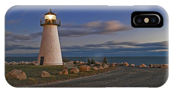 Neds Point Lighthouse In Evening IPhone Case
