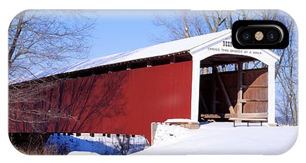 Neet Covered Bridge Parke Co In Usa IPhone Case
