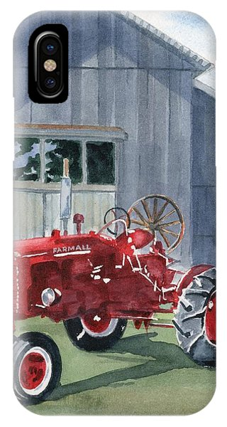 Farm iPhone Case - Neighbor Don's Farmall by Marsha Elliott