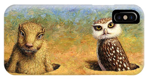 Groundhog iPhone Case - Neighbors by James W Johnson