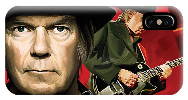 Neil Young Artwork IPhone Case
