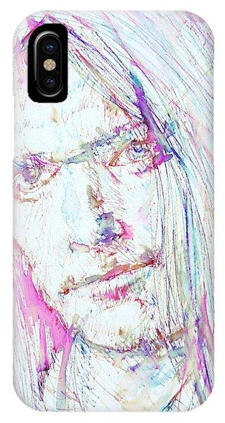 Neil Young - Colored Pens Portrait IPhone Case