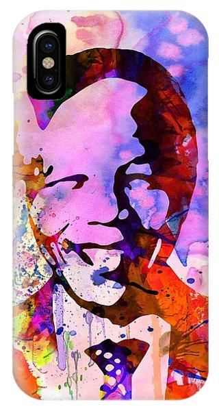 Leader iPhone Case - Nelson Mandela Watercolor by Naxart Studio