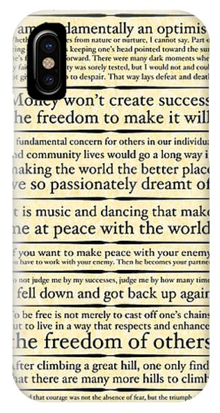 Nelson Mandela Words And Wisdom - Vertical IPhone Case