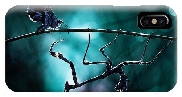 Moth iPhone Case - Nemesis by Fabien Bravin