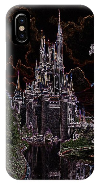 Neon Castle IPhone Case