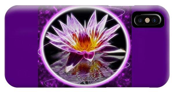 Neon Lotus IPhone Case
