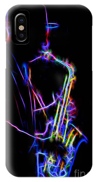 Neon Sax IPhone Case