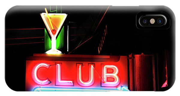 Neon Sign Club IPhone Case