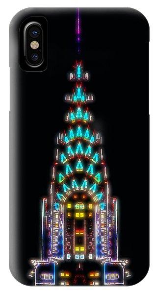 Blues Legends iPhone Case - Neon Spires by Az Jackson