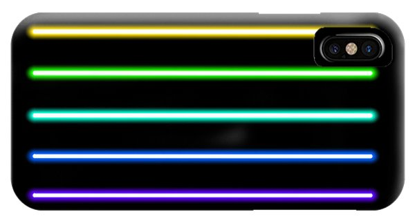 Bar iPhone Case - Neon Tube Light Pack Isolated On Black by Boxerx