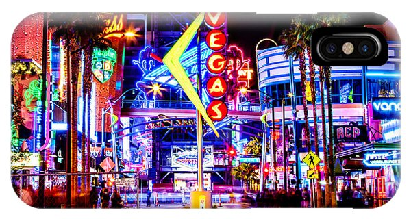 Paris iPhone Case - Neon Vegas by Az Jackson