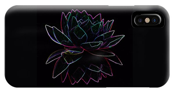 Neon Water Lily IPhone Case
