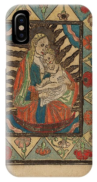 Lavender iPhone Case - Netherlandish 15th Century, The Madonna And Child by Quint Lox