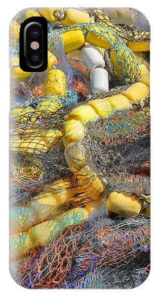 IPhone Case featuring the photograph Nets And Floats by David Phoenix