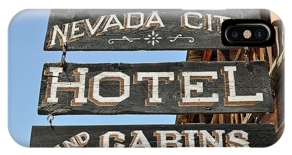 Nevada City Hotel Sign IPhone Case