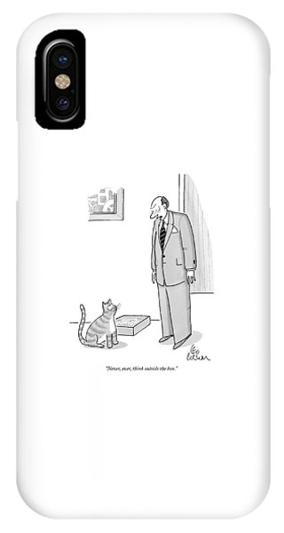 iPhone Case - Never, Ever, Think Outside The Box by Leo Cullum
