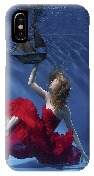Boat iPhone Case - Never Let Go by Karen Jones