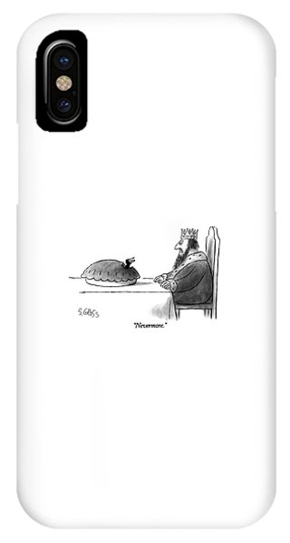 Raven iPhone Case - Nevermore by Sam Gross