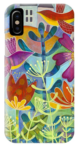 IPhone Case featuring the painting New Beginning by Carla Bank