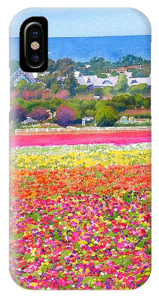 Windmill iPhone Case - New Carlsbad Flower Fields by Mary Helmreich
