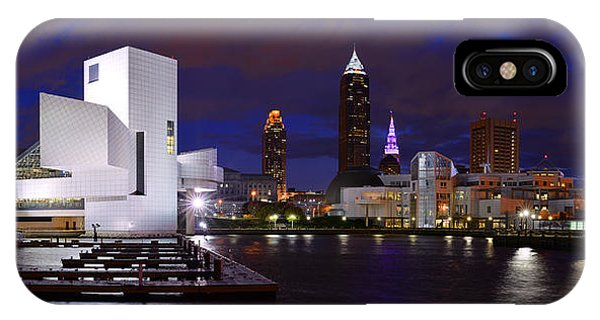 New Cleveland Waterfront With Storm Clouds IPhone Case