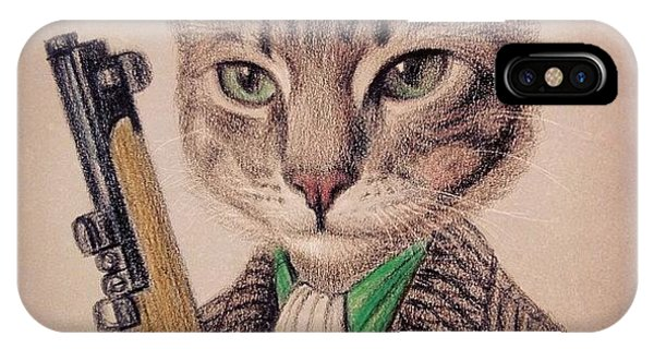New Color Pencil Animal Cat Drawing Phone Case by Wind Z