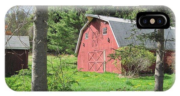 New England Barn Phone Case by Marjorie Tietjen