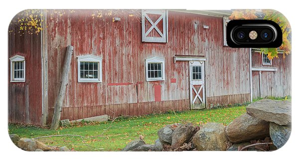 New England Barn iPhone Case - New England Barn Square by Bill Wakeley