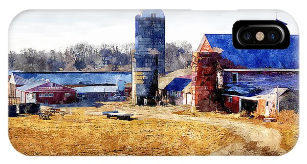 New England Barn iPhone Case - New England Farm 2 by Rick Mosher