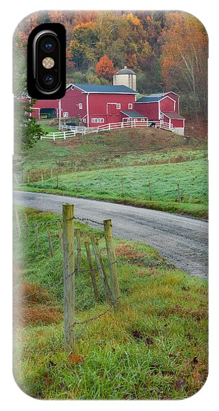 New England Barn iPhone Case - New England Farm by Bill Wakeley