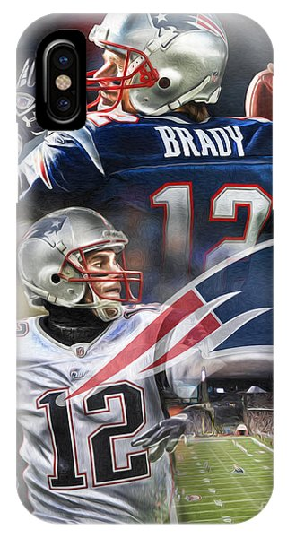 Pig iPhone Case - New England Patriots by Mike Oulton