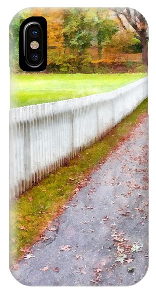 New England Fall Foliage iPhone Case - New England Picket Fence by Edward Fielding