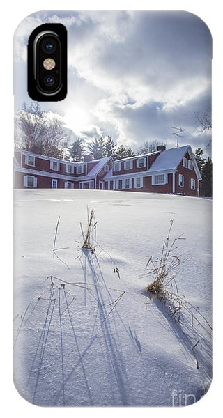Etna iPhone Case - New England Red Farm House Winter by Edward Fielding