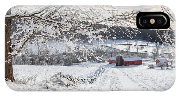 New England Barn iPhone Case - New England Winter Farms by Bill Wakeley